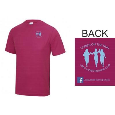 Lincs ladies running club hot pink t shirt for Hot pink running shirt